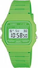 Casio Quartz Watch Dial Digital Display and Resin Strap Scratch-Resistant, Green