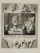 1728 Kupferstich Demarne Bibel Biblia Paulus und Agrippa Berenice