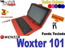 "FUNDA  CON TECLADO TABLET Woxter PC101 10.1"" KEYBOARD 10 PULGADAS COLORES"
