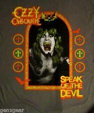 OZZY OSBOURNE cd cvr SPEAK OF THE DEVIL Official Grey SHIRT SMALL New oop