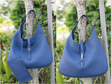 NEW $2990 Gucci Jackie Soft Leather Hobo in Caspian Blue 362968 Pouch Authentic