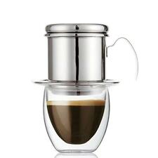 Set Of 1 Vietnamese Coffee Drip Filter Infuser Maker - Stainless Steel Silver