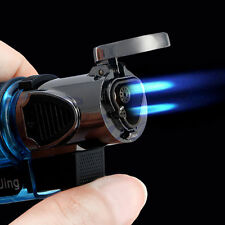 Windproof Refillable Butane Gas Trip Torch Jet Flame Cigarette Cigar Lighter