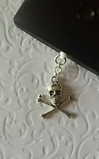 Skull & Crossbones Dangle Charm For Mobile Phone Tablet Ipad Iphone Dust Plug