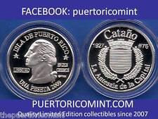 Silver PESETA CATANO CATAÑO 2009 Puerto Rico Boricua Quarter 1/100 Plata