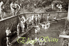 VINTAGE 1940'S PHOTO NUDE SOLDIERS SWIM & MEN BATHE GAY INTEREST 27