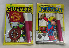 2 Vtg Muppets Magic Pen Painting Coloring Books Kermit the Frog Miss Piggy Toys