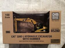 Diecast Masters Real Replica CAT320D LHydraulic Excavator With Hammer 1:50 Scale