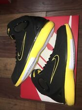 Nike Air Zoom Huarache 2K4 Black/Yellow Size 9.5
