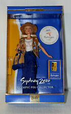 1999 Sydney 2000 Olympic Pin Collector Barbie In Original Box Includes Pin