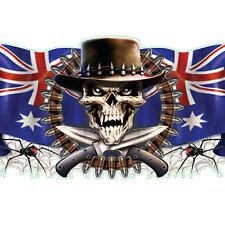 Lethal Threat Sticker Aufkleber Australian Scull Ideal für Motorrad,Auto,Helm