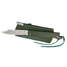 Douk Douk Folder Knife with Green Handle & Sharpening Rod - tactical vintage NEW