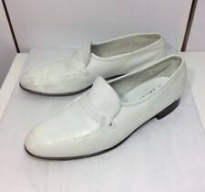 Bally Switzerland Men's 10 M White Leather Vintage Continentals Loafer Oxford