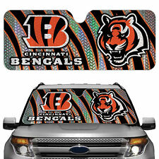 Cincinnati Bengals Licensed NFL Reflective Car Windshield Sun Shade, Automobile