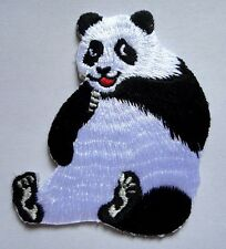 CUTE PRETTY BLACK & WHITE GIANT PANDA Embroidered Iron on Patch Free Shipping