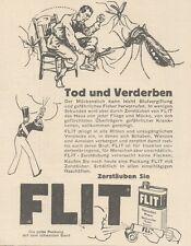 Y6763 FLIT - Tod und Verderben -  Pubblicità d'epoca - 1929 Old advertising