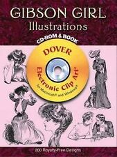 Gibson Girl Illustrations CD-ROM and Book (Dover Electronic Clip Art)-ExLibrary