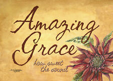 """Amazing Grace""8x10 double-matted Watercolor Art Print by artist, Julie Hammer"