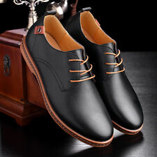 Fashion Men Business Leather Shoes New Oxford Casual Comfort Lace Up Groom Shoes