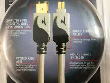 NEW Zenith 6FT Firewire IEEE 1394A 6 pin to 4 Pin DV iLink Cable USA Gold Ends