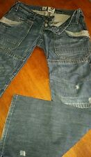 LADIES RIVER ISLAND JEANS  SZ AU 10  SAFARI