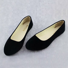 LADIES FLAT BALLET BALLERINA PUMPS WOMANS CASUAL WORK SCHOOL CASUAL DOLLY SHOES