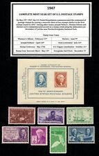 1947 COMPLETE YEAR SET OF VINTAGE MINT, NEVER HINGED, U.S. POSTAGE STAMPS