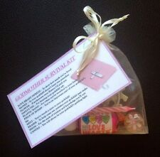 GODMOTHER Survival Kit - GIFT For GODPARENTS CHRISTENING Baptism THANK YOU GIFT
