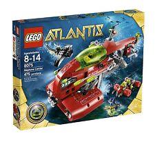 LEGO 8075 ATLANTIS - NEPTUNE CARRIER w/ GREEN ATLANTIS TREASURE KEY - RARE!