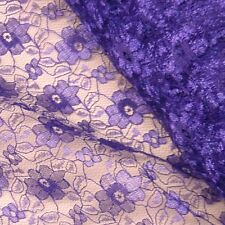 Purple Budget Flower Lace Fabric *Per Metre