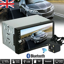 Double 2 Din Bluetooth Car Stereo MP5 MP3 Player Radio USB AUX + Parking Camera