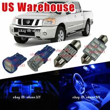 13-pc Pure Blue Interior LED Lights Package Kit For Nissan Titan 2004 and up