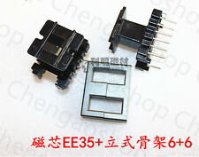 2set EE35 6+6pins Ferrite Cores bobbin,transformer core,inductor coil #Q1319 ZX