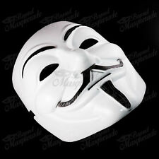 V for Vendetta Anonymous Guy Fawkes Rave Halloween Masquerade Mask [White]