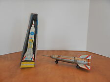 1960's TIN FRICTION SPACE ROCKET TOY LEMEZARU GYAR HOLDRAKETA  HUNGARY NOS