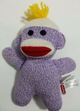 "Schylling Sock Monkey 7"" Soft Plush Toy Purple"