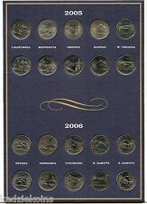 2004 - 2008 State Quarter Coin Collection & Folder Album - USA America - KQ383