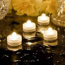 2 x Waterproof LED Tealight Candles Long Lasting Wedding Submersible Safe Vase