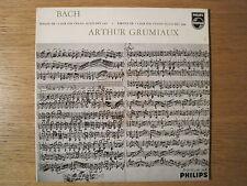 """ARTHUR GRUMIAUX """"Bach: Sonata & Partita no 3 for Violin Solo"""" Philips LP"""