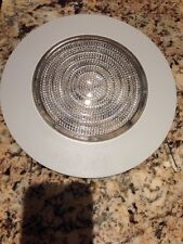 "6"" INCH RECESSED CAN LIGHT SHOWER TRIM FRESNEL GLASS  LENS WHITE"