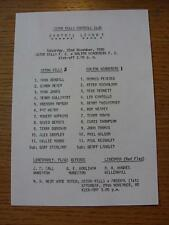 22/11/1980 Aston Villa Reserves v Bolton Wanderers Reserves  (Single Sheet, Scor