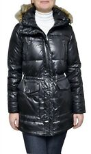 Ralph Lauren Faux Fur Hood Down Jacket Puffer Parka Coat Black XS Nwt $350