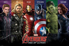 AVENGERS AGE OF ULTRON MOVIE POSTER Hulk Captain Iron Thor MARVEL NEW LICENCED