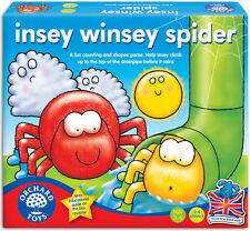 Orchard Toys INSEY WINSEY SPIDER Baby/Toddler/Child Board Game Counting - New