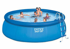 "Intex 15' ft Round x 48"" Deep Easy Set Above Ground Swimming Pool-Model 28167EH"
