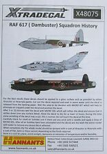 Xtradecal 1/48 X48075 No 617 Squadron RAF 'Dambusters' History Decal Sheet