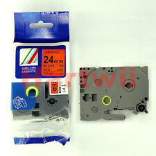 """Brother TZ-451 P-Touch Compatible Black on Red Label Tape 24mm 8m 1 x26"""" TZe-451"""