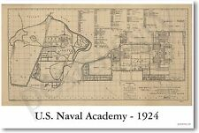 US Naval Academy 1924 - NEW Vintage Reprint POSTER