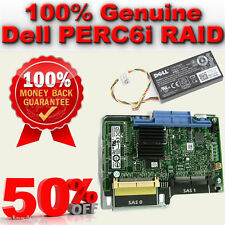 Dell Poweredge 1950/2950 PERC 6i SAS Raid Card 0H726F H726F Battery 0NU209 256MB