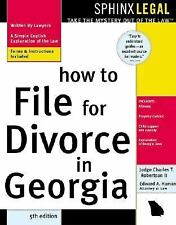How to File for Divorce in Georgia (Legal Survival Guides)-ExLibrary